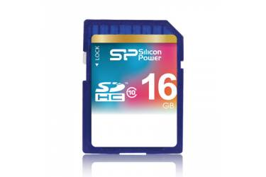 Карта памяти Silicon Power SDHC 16GB Class 10