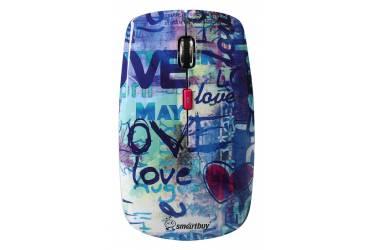 Компьютерная мышь Smartbuy Wireless 327AG принт Love