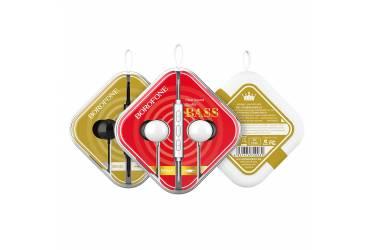 Наушники Borofone BM45 Sound wave earphones with mic Black