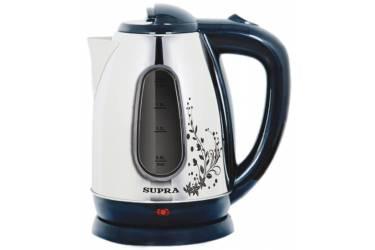 Чайник электрический Supra KES-1834W металл с рисунком 1.8л. 2200Вт