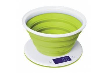 Весы кухонные электронные Starwind SSK5575 макс.вес:5кг белый/зеленый