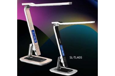 Светильник настольный светодиодный SUPRA-TL405 _розов.золото, 10 Вт, димм, 3300 - 6300К, часы, USB