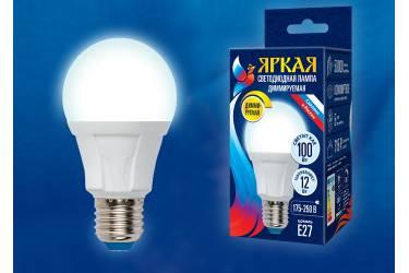 Лампа светодиодная диммир Uniel LED-A60 12W/4000K/E27/FR/DIM PLP01WH ЯРКАЯ РОССИЯ