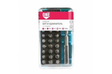 Набор бит (насадок), 31 предмет, биты SL, PH, PZ, HEX, TORX по 6 шт, удлин., CR-V Smartbuy One Tools
