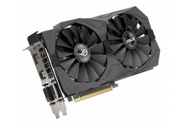Видеокарта Asus PCI-E ROG-STRIX-RX570-O4G-GAMING AMD Radeon RX 570 4096Mb 256bit GDDR5 1300/7000 DVIx2/HDMIx1/DPx1/HDCP Ret