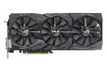 Видеокарта Asus PCI-E ROG-STRIX-GTX1080TI-11G-GAMING nVidia GeForce GTX 1080Ti 11264Mb 352bit GDDR5X 1493/11100 DVIx1/HDMIx2/DPx2/HDCP Ret