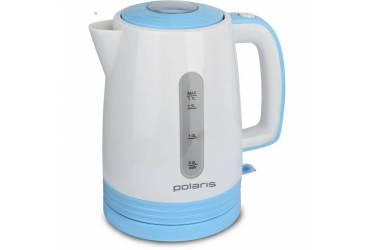 Чайник электрический Polaris PWK1775C 1.7л. 2200Вт белый/голубой (корпус: пластик)