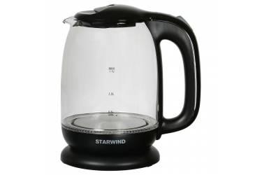 Чайник электрический Starwind SKG1210 1.7л. 2200Вт черный (стекло)