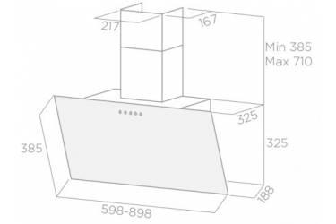 Вытяжка каминная Elica Shire BL/A/60 черный управление: сенсорное (1 мотор)