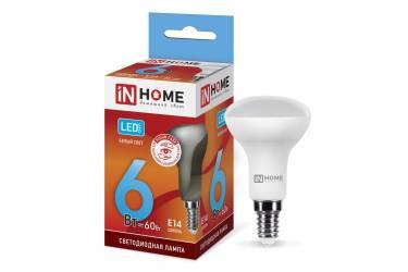 Лампа светодиодная IN HOME LED-R50-VC 6Вт 230В Е14 4000К 480Лм