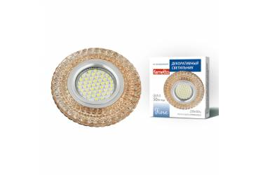 Светильник точечный Uniel DLS-F131 GU5.3 CHROME/GOLD без лампы