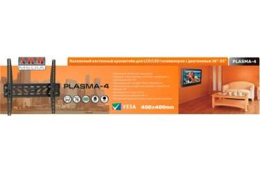 """Кронштейн с наклоном Arm Media Plasma-4 черный (max 55"""" 55 kg)"""