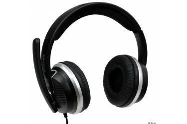 Наушники Ritmix RH-554USB накладные с микрофоном черные с вибро эффектом