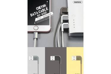 Кабель USB Remax CHEYNN RC-052i Iphone 5 черный 1 м в уп
