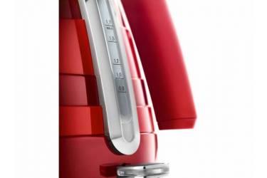 Чайник электрический Delonghi KBA2001.R 1.7л. 2000Вт красный (корпус: нержавеющая сталь)