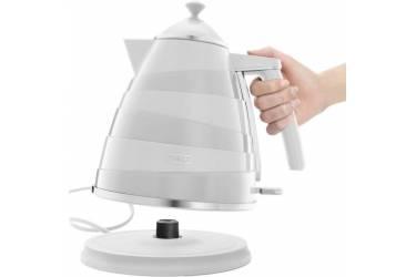 Чайник электрический Delonghi KBA2001.W 1.7л. 2000Вт белый (корпус: нержавеющая сталь)