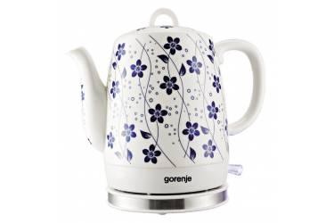 Чайник электрический Gorenje K10C 1л. 1630Вт белый (корпус: керамика)