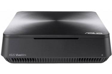 Неттоп Asus VivoMini VM45-G019Z slim Cel 3865U (1.8)/2Gb/500Gb 5.4k/HDG610/CR/Windows 10 Single Language 64/GbitEth/WiFi/BT/65W/темно-серый