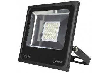 Прожектор светодиодный ДО-30w IP65 6500K черный Gauss (613100330)