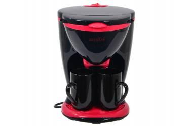 Кофеварка SMILE КА 783 черный/красный 450Вт 2чашки