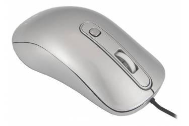 Мышь Оклик 155M серебристый оптическая (1600dpi) USB (3but)