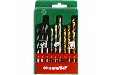 Набор сверл Hammer Flex 202-909 DR (37078) по металлу/камню/дереву (9пред.) для шуруповертов/дрелей