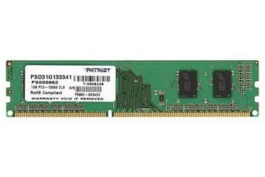 Память DDR3 1Gb 1333MHz Patriot PSD31G133381 RTL PC3-10600 DIMM 240-pin