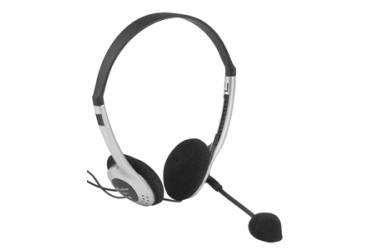 Наушники Intro HS801 накладные с микрофоном черные/серебристые