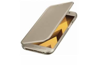 Оригинальный чехол (флип-кейс) для Samsung Galaxy A7 (2017) Clear View Cover золотистый (EF-ZA720CFEGRU)