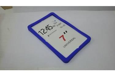 Универсальная силиконовая накладка на планшет 7 черный с подставкой