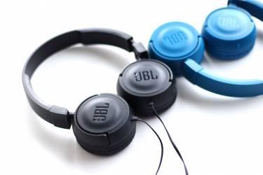 Наушники JBL T450 накладные с микрофоном синие
