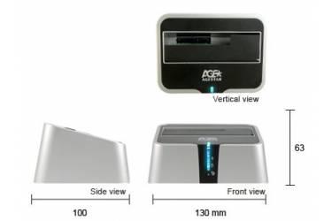"""Док-станция для HDD AgeStar 3UBT2 SATA пластик серебристый 2.5""""/3.5"""" (плохая упаковка)"""