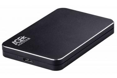 "Внешний корпус для HDD AgeStar 3UB2A18 SATA алюминий черный 2.5"""