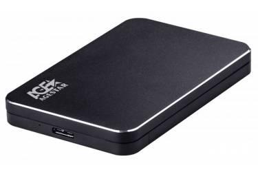 "Внешний корпус для HDD AgeStar 31UB2A18 SATA алюминий черный 2.5"""