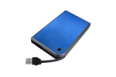 "Внешний корпус для HDD/SSD AgeStar 3UB2A14 SATA II пластик/алюминий синий 2.5"""