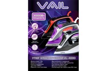 Утюг VAIL  VL-4000 черно-красный 3000 Вт