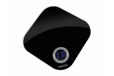 Весы кухонные электронные Centek CT-2465 стекло, сенсор, LCD- 40мм с подсветкой, t° в комнате, max 5кг, шаг 1г