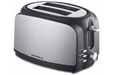 Тостер Supra TTS-217 800Вт черный/серебристый