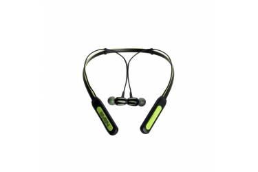 Наушники беспроводные (Bluetooth) Sven E-235B внутриканальные c микрофоном (черно-зеленые)