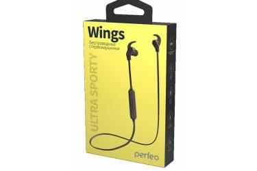 Наушники беспроводные (Bluetooth) Perfeo WINGS внутриканальные с микрофоном черные