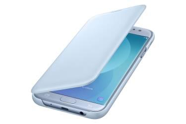 Оригинальный чехол (флип-кейс) для Samsung Galaxy J7 (2017) Wallet Cover голубой (EF-WJ730CLEGRU)