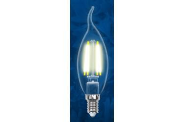 Лампа светодиодная Uniel LED-CW35-6W/WW/3000/E14/CL Sky свеча на ветру прозр