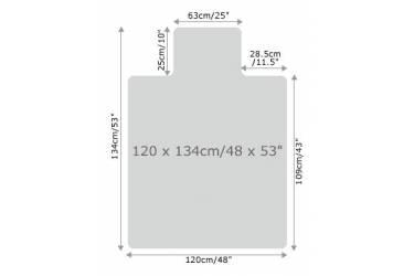 Коврик напольный Floortex FC1213419LR с выступом для паркета/ламината Поликарбонат 120х134см