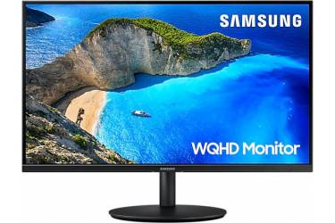"""Монитор Samsung 27"""" LF27T700QQIXCI черный PLS LED 16:9 HDMI матовая HAS Pivot 300cd 178гр/178гр 2560x1440 DisplayPort WQHD 5.7кг"""