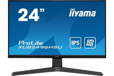 """Монитор Iiyama 23.8"""" ProLite XUB2496HSU-B1 черный IPS LED 1ms 16:9 HDMI M/M матовая HAS 250cd 178гр/178гр 1920x1080 DisplayPort FHD USB 4.7кг"""
