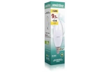 Светодиодная (LED) Свеча на ветру матовая Лампа Smartbuy-C37-9,5W/3000/E14
