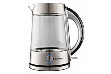 Чайник электрический Gorenje K17G 1.7л. 2200Вт серебристый (корпус: стекло)