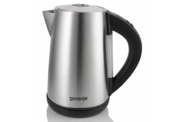 Чайник электрический Gorenje K17TRE 1.7л. 2200Вт серебристый/черный (корпус: металл/пластик)