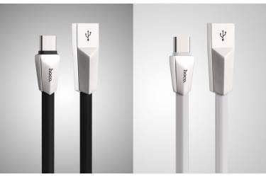 Кабель USB Hoco X4 Zinc Alloy Rhombic Type C White