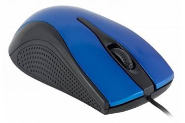 Мышь Oklick 215M черный/синий оптическая (800dpi) USB (2but)